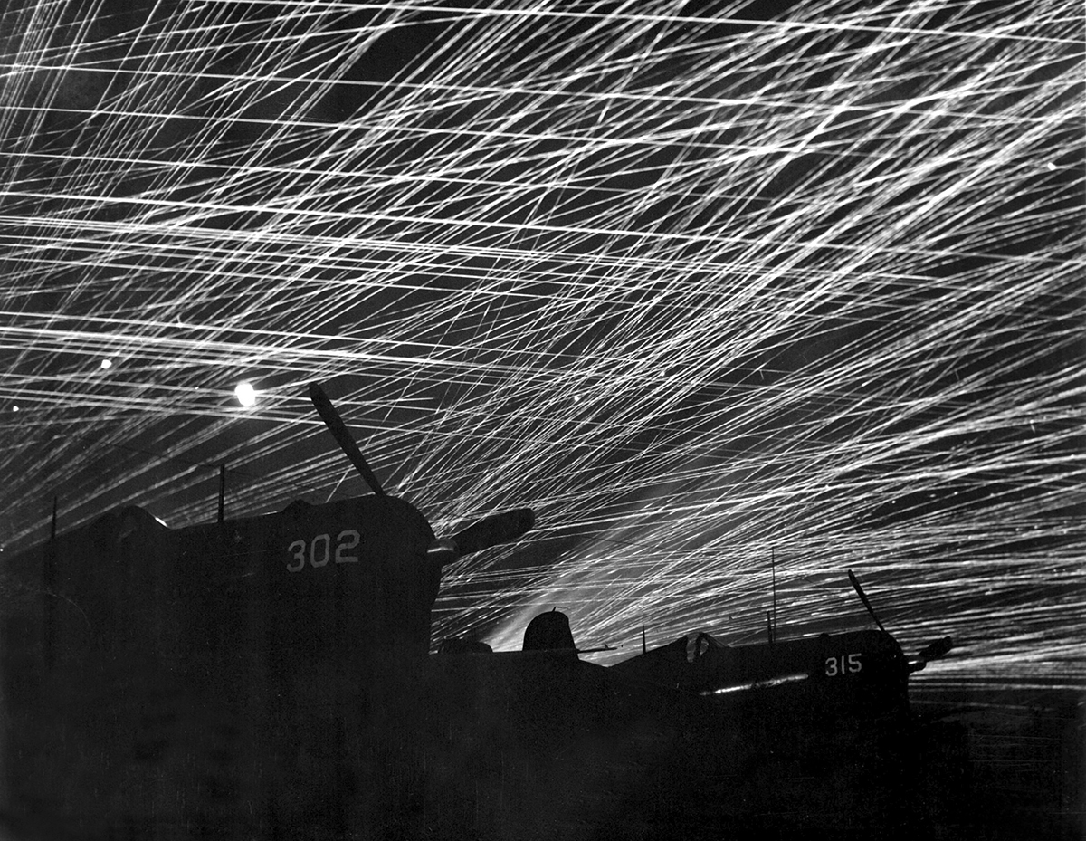 """The American assault was called the """"hurricane of steel"""" ©Naha City Museum of History"""